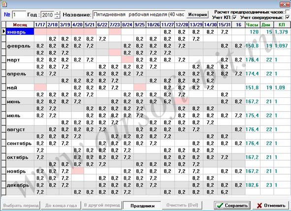 График Работы Сотрудников образец скачать в Excel