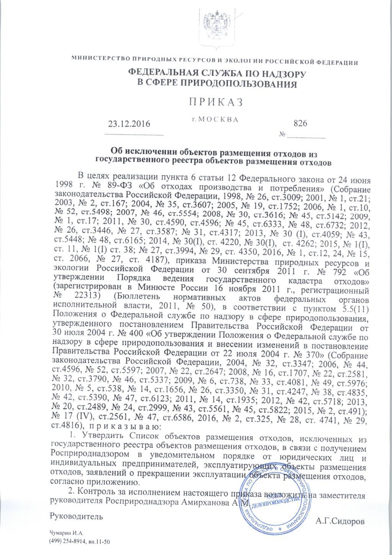 Федеральный Классификационный каталог Отходов на 2015